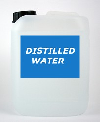 distilled and deionized water