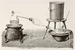 History of the distilled water